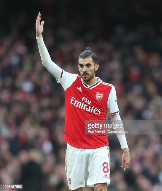 Arsenal's Dani Ceballos during the Premier League match between Arsenal FC and West Ham United at Emirates Stadium on March 7 2020 in London United...