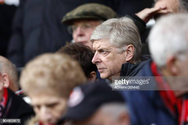 Arsenal's French manager Arsene Wenger looks on from the stands before the English Premier League football match between Bournemouth and Arsenal at...
