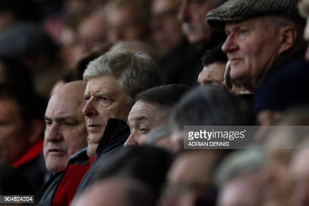 Arsenal's French manager Arsene Wenger looks on from the stands during the English Premier League football match between Bournemouth and Arsenal at...