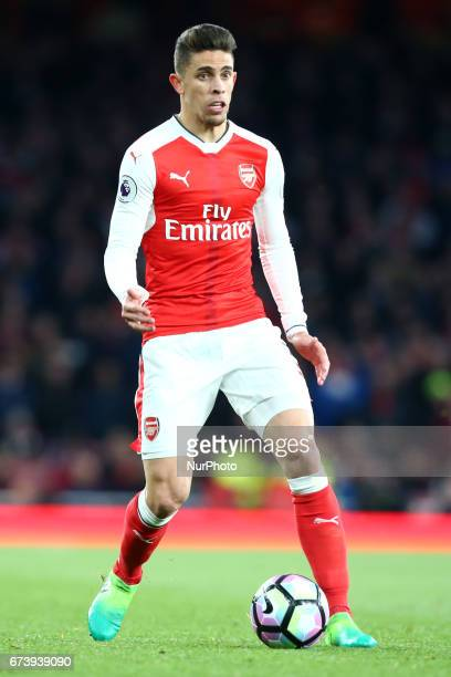 Arsenal's Gabriel Paulista during the Premier League match between Arsenal and Leicester City at Emirates stadium London England on 26 April 2017