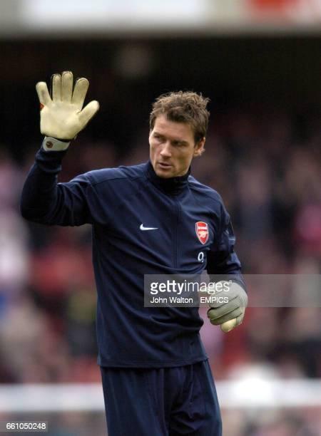 Arsenal's goalkeeper Jens Lehmann before the game against Stoke City