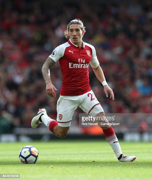 Arsenal's Hector Bellerin during the Premier League match between Arsenal and AFC Bournemouth at Emirates Stadium on September 9 2017 in London...