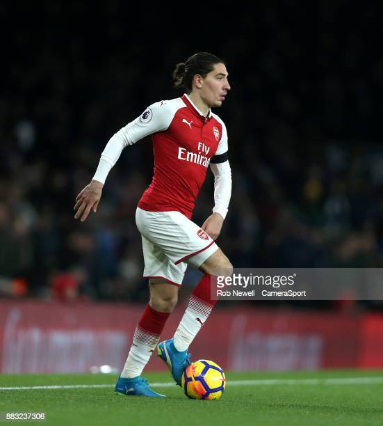 Arsenal's Hector Bellerin during the Premier League match between Arsenal and Huddersfield Town at Emirates Stadium on November 29 2017 in London...