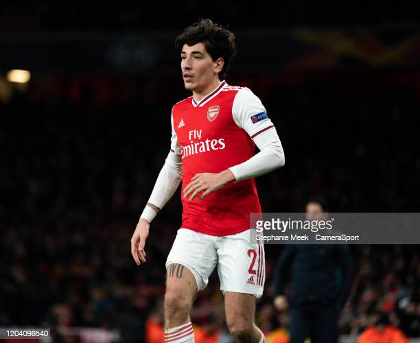 Arsenal's Hector Bellerin during the UEFA Europa League round of 32 second leg match between Arsenal FC and Olympiacos FC at Emirates Stadium on...