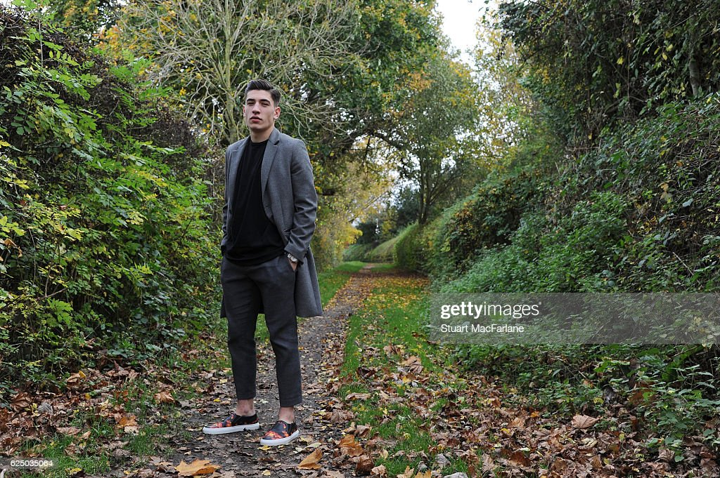 Arsenal's Hector Bellerin poses during a photo shoot at London Colney on November 11, 2016 in St Albans, England.