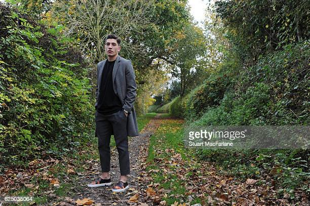 Arsenal's Hector Bellerin poses during a photo shoot at London Colney on November 11 2016 in St Albans England