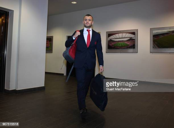 Arsenal's Jack Wilshere before the Premier League match between Arsenal and Crystal Palace at Emirates Stadium on January 20 2018 in London England
