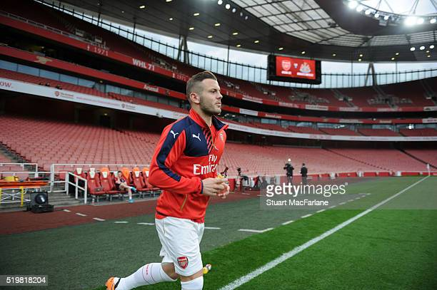 Arsenal's Jack Wilshere before the U21 Premier League match between Arsenal and Newcastle at the Boleyn Ground on April 9 2016 in London England