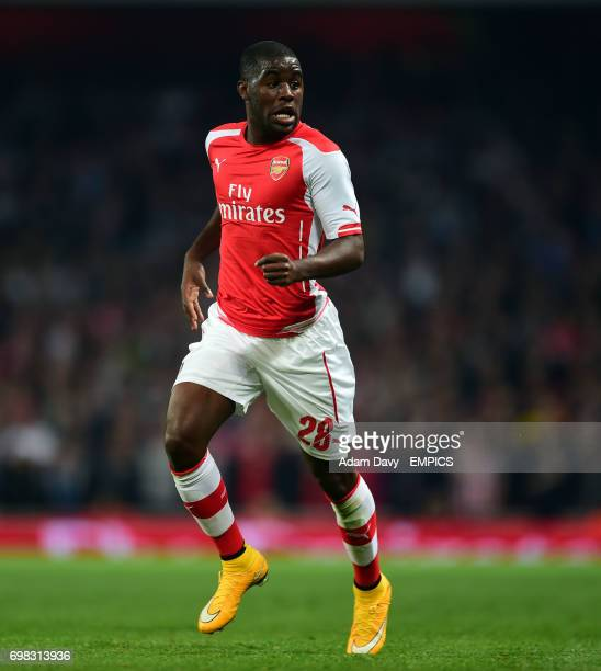 Arsenal's Joel Campbell during the game