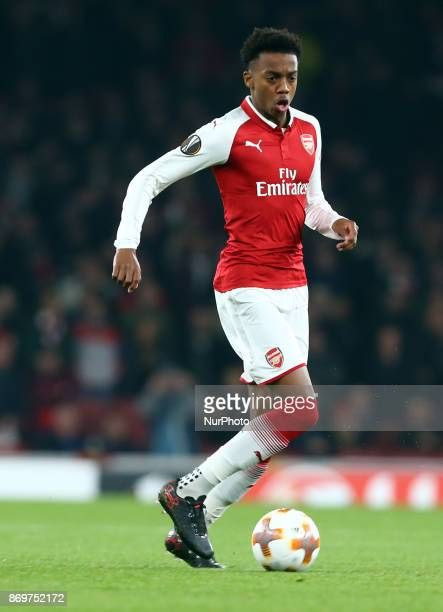 Arsenal's Joseph Willock during UEFA Europa League Group H match between Arsenal and Red Star Belgrade at The Emirates London 2 Nov 2017