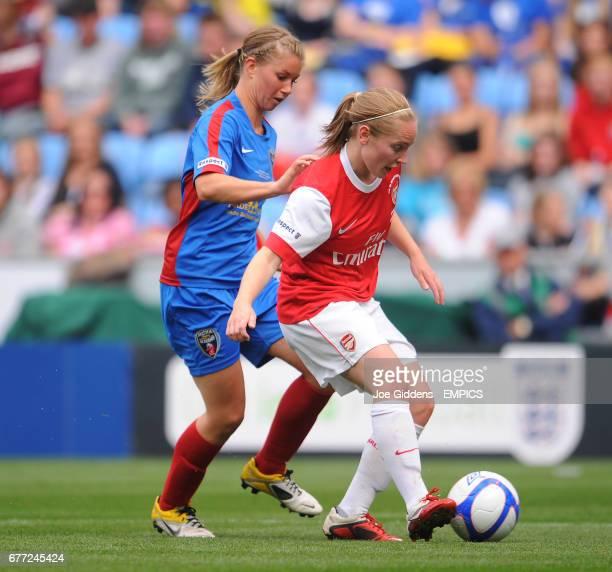 Arsenal's Kim Little and Bristol Academy's Anouk Hoogendijk