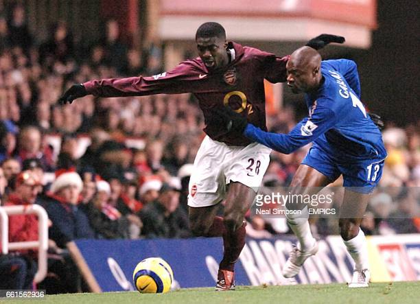 Arsenal's Kolo Toure and Chelsea's William Gallas