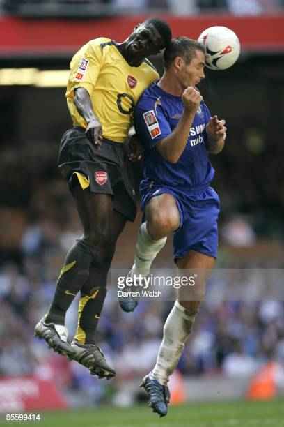 Arsenal's Kolo Toure challenges Chelsea's Frank Lampard