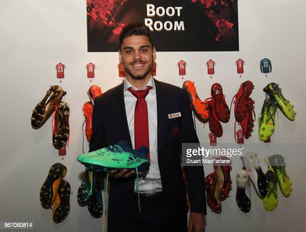 Arsenal's Konstantinos Mavropanos attends the Arsenal Foundation Ball at Emirates Stadium on May 10 2018 in London England