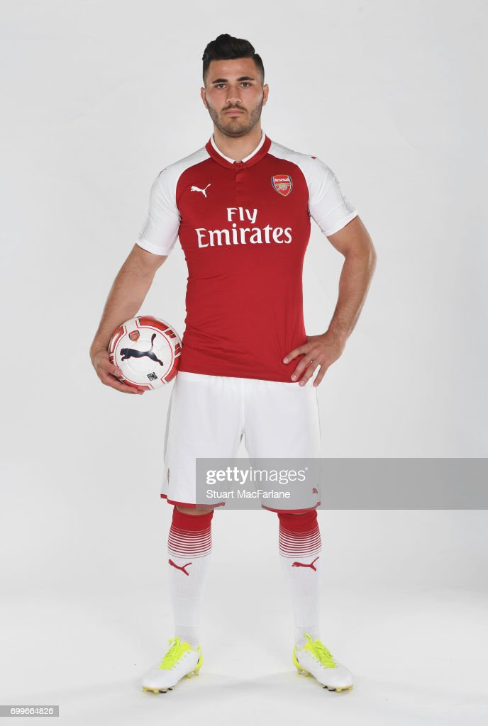 Arsenal's latest signing Sead Kolasinac at London Colney on June 6, 2017 in St Albans, England.