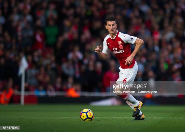 Arsenal's Laurent Koscielny during the Premier League match between Arsenal and Swansea City at Emirates Stadium on October 28 2017 in London England