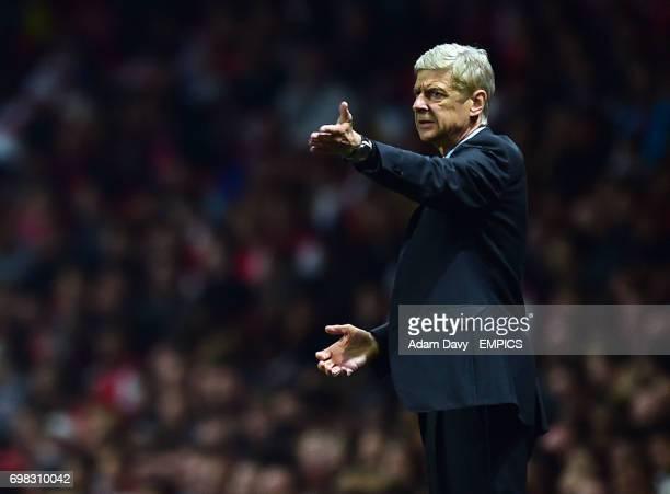Arsenal's Manager Arsene Wenger during the game
