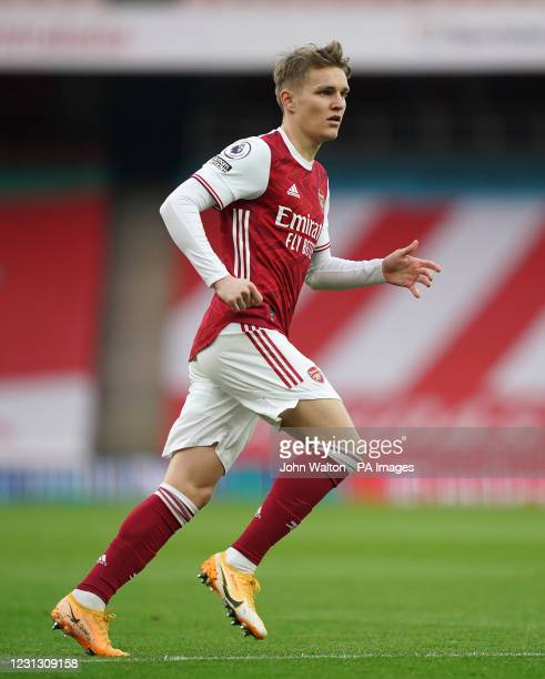 Arsenal's Martin Odegaard during the Premier League match at the Emirates Stadium, London. Picture date: Sunday February 21, 2021.