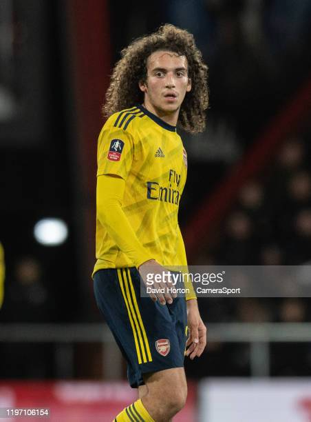 Arsenal's Matteo Guendouzi during the FA Cup Fourth Round match between Bournemouth and Arsenal at Vitality Stadium on January 27 2020 in Bournemouth...