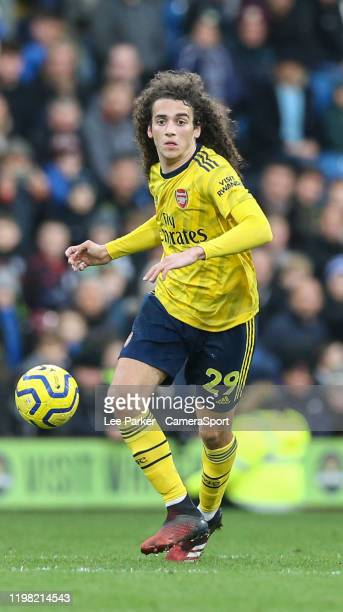 Arsenal's Matteo Guendouzi during the Premier League match between Burnley FC and Arsenal FC at Turf Moor on February 2 2020 in Burnley United Kingdom