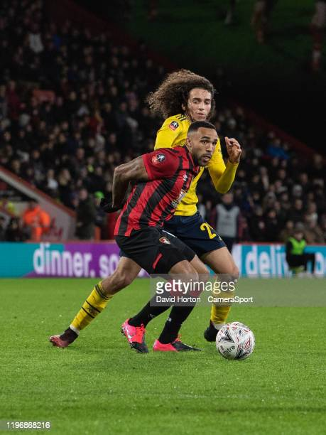 Arsenal's Matteo Guendouzi vies for possession with Bournemouth's Callum Wilson during the FA Cup Fourth Round match between Bournemouth and Arsenal...
