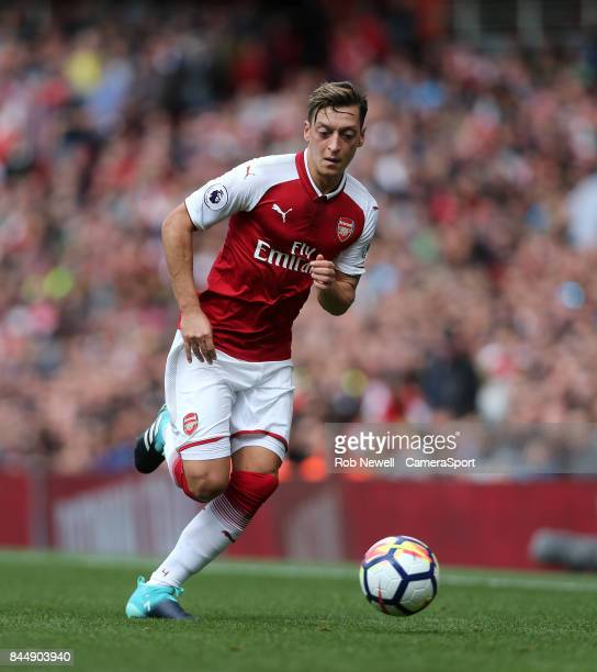 Arsenal's Mesut Ozil during the Premier League match between Arsenal and AFC Bournemouth at Emirates Stadium on September 9 2017 in London England