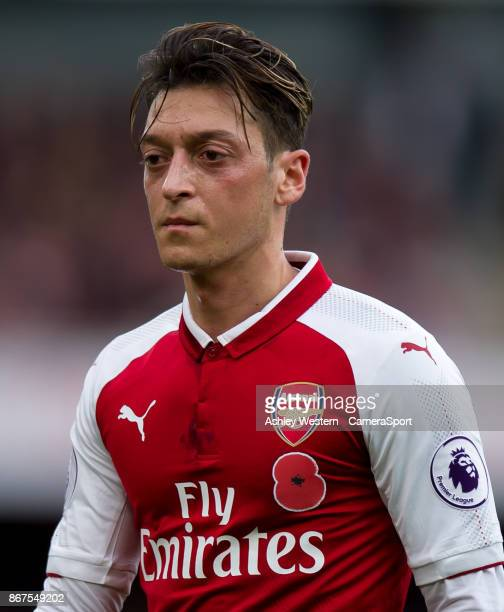 Arsenal's Mesut Ozil during the Premier League match between Arsenal and Swansea City at Emirates Stadium on October 28 2017 in London England