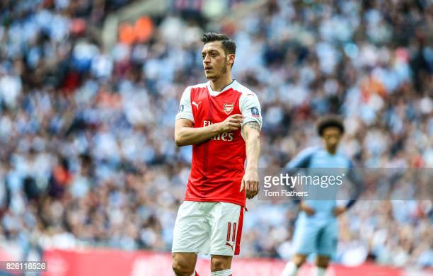 Arsenal's Mesut Ozil in action against Manchester City in the FA Cup Semi Final
