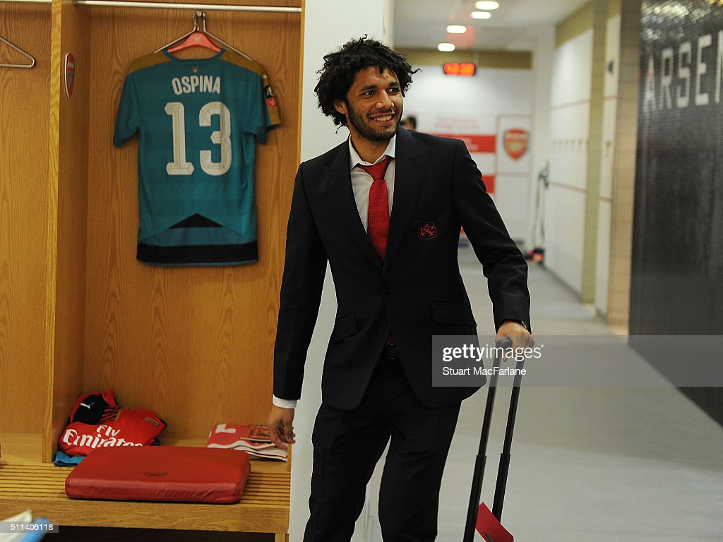 Arsenal's Mohamed Elneny before during the Emirates FA Cup Fifth Round match between Arsenal and Hull City at Emirates Stadium on February 20, 2016 in London, England.