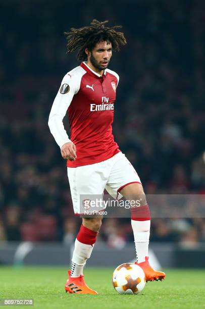 Arsenal's Mohamed Elneny during UEFA Europa League Group H match between Arsenal and Red Star Belgrade at The Emirates London 2 Nov 2017