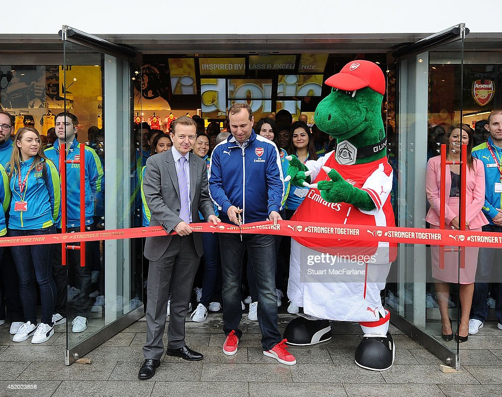 Arsenal's new Armoury Store is opened at Emirates Stadium on July 11, 2014 in London, England.