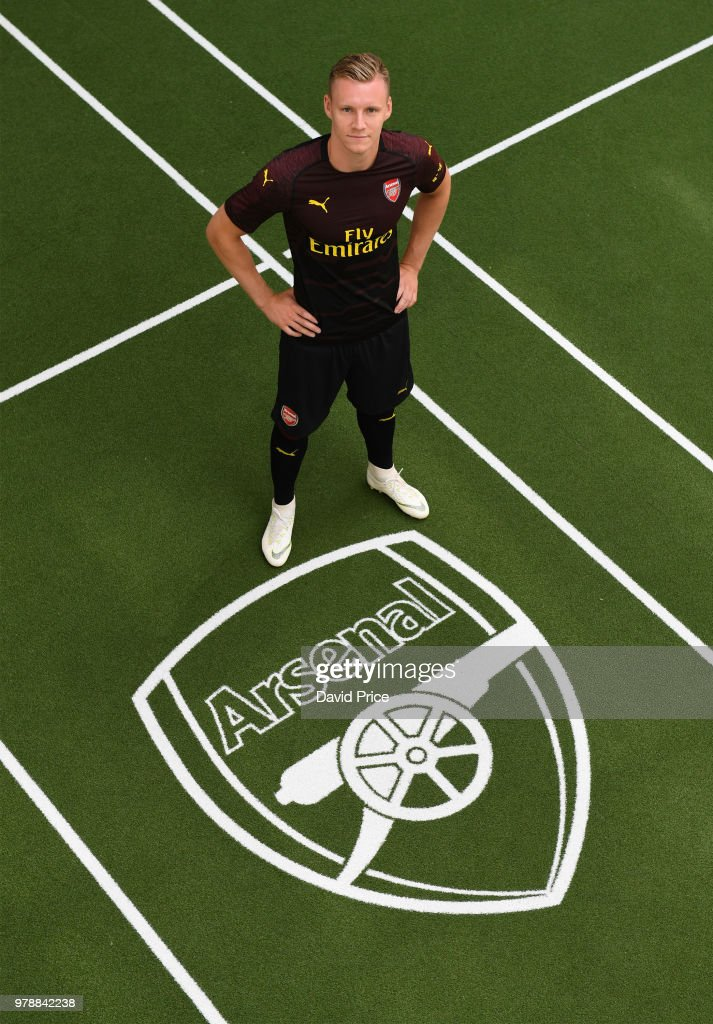 Arsenal's new signing Bernd Leno at London Colney on June 19, 2018 in St Albans, England.