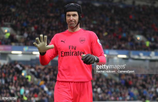 Arsenal's Petr Cech during the Premier League match between Burnley and Arsenal at Turf Moor on November 26 2017 in Burnley England