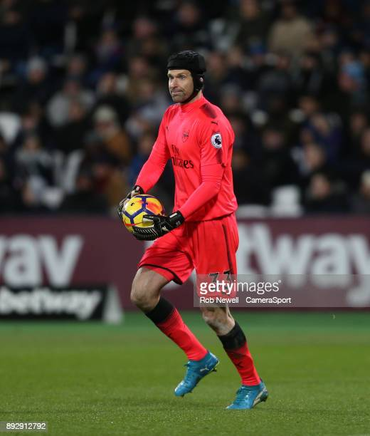 Arsenal's Petr Cech during the Premier League match between West Ham United and Arsenal at London Stadium on December 13 2017 in London England