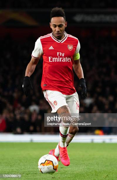 Arsenal's PierreEmerick Aubameyang during the UEFA Europa League round of 32 second leg match between Arsenal FC and Olympiacos FC at Emirates...