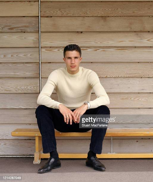 Arsenal's Robin van Persie at the Arsenal Training Ground on May 24 2004 in London England