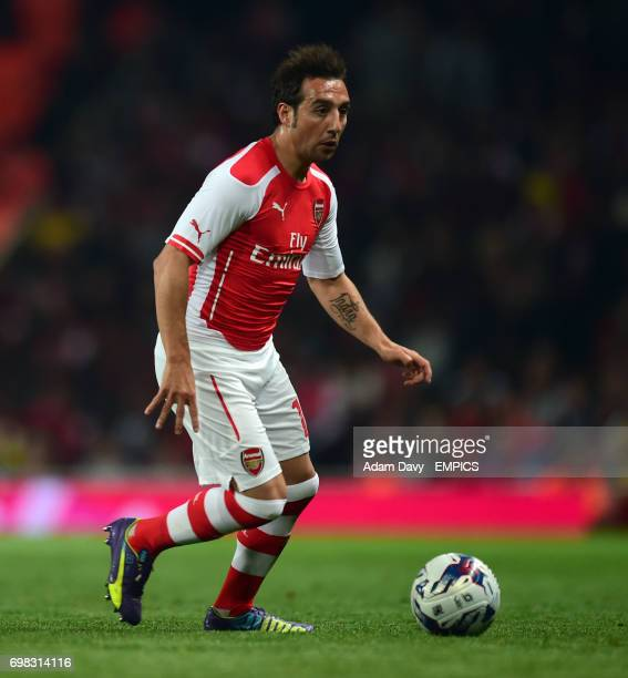 Arsenal's Santi Cazorla during the game