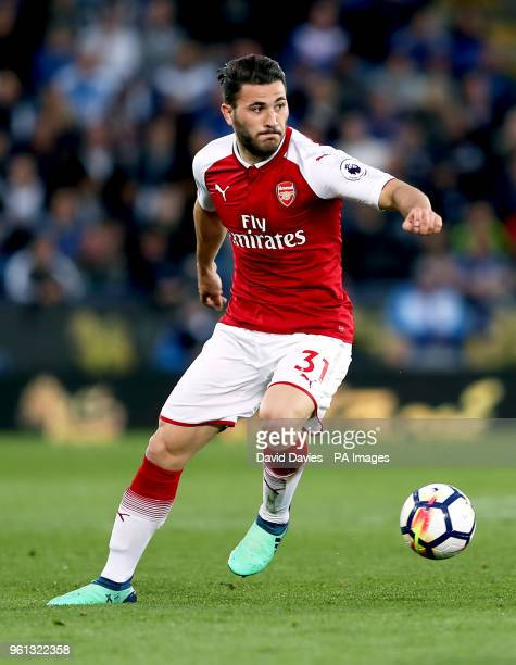 Arsenal's Sead Kolasinac during the Premier League match at the King Power Stadium Leicester