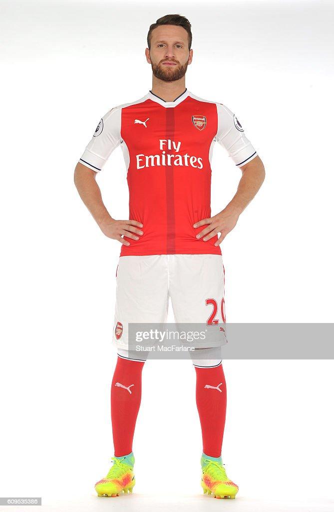 Arsenal's Shkodran Mustafi at London Colney on September 21, 2016 in St Albans, England.