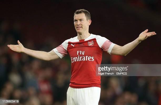 Arsenal's Stephan Lichtsteiner Arsenal v FC BATE Borisov UEFA Europa League Round of 32 Second Leg Emirates Stadium