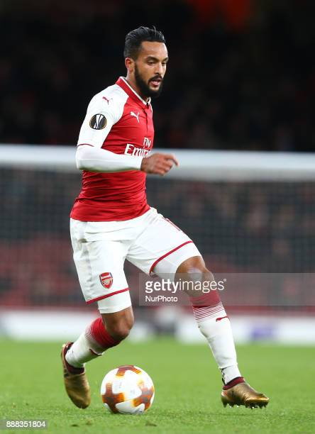 Arsenal's Theo Walcott during UEFA Europa League Group H match between Arsenal and BATE Borisov at The Emirates London 7 Dec 2017