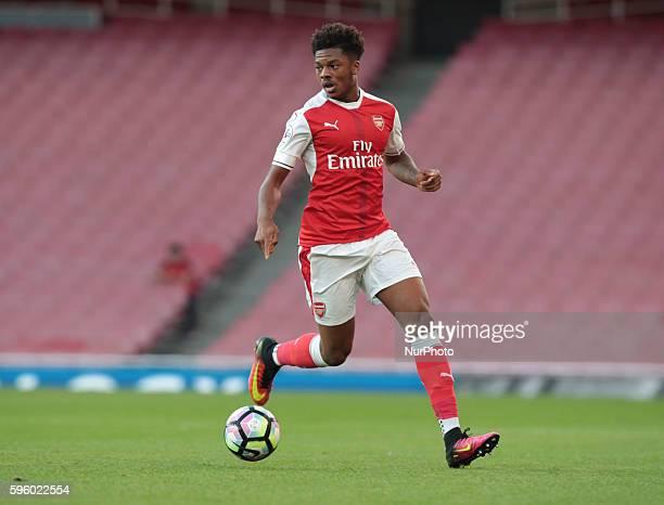 Arsenal's U23s Chuba Akpom during Premier League 2 match between Arsenal U23 v Liverpool U23 at Emirates stadium London on August 26 2016