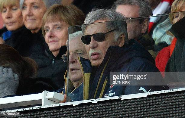 Arsenal's US Owner Stan Kroenke watches during the English FA Cup fourth round football match between Arsenal and Burnley at the Emirates stadium in...