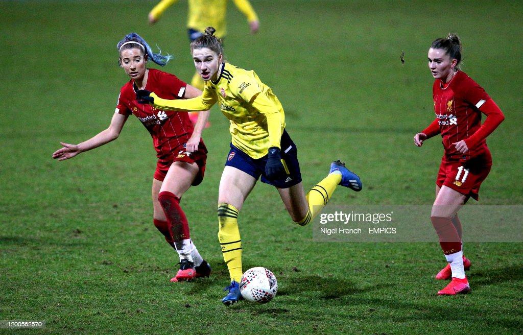 Liverpool v Arsenal - FA Women's Super League - Lookers Vauxhall Stadium : News Photo