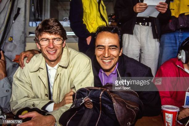 Arsene Wenger and Didier Roustan during the European Championship match Germany and Sweden at Rasunda Stadium, Solna, Sweden on 21 June 1992