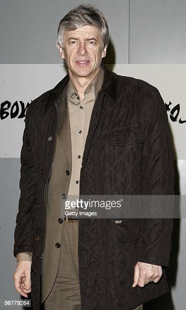 Arsene Wenger arrives at the launch of Nike's 'Joga Bonito' at the Truman Brewery on February 7 2006 in London England Wayne Rooney Rio Ferdinand...