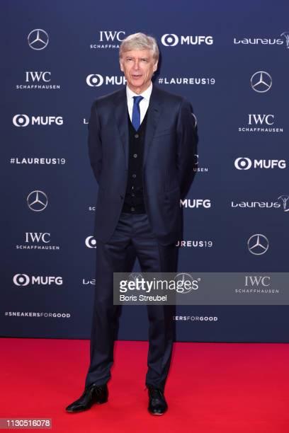 Arsene Wenger arrives for the 2019 Laureus World Sports Awards on February 18 2019 in Monaco Monaco