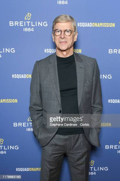 "Arsene Wenger attends the ""Breitling 1884"" flagship reopening party at 10 rue de la Paix on October 03, 2019 in Paris, France."