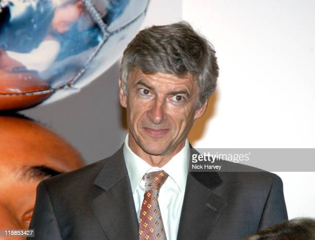 Arsene Wenger during Auction for Action on Addiction at The Royal Academy in London Great Britain