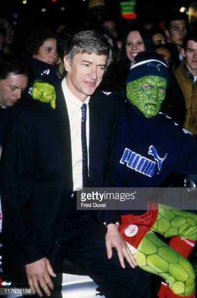 Arsene Wenger during 'The Footies' Soccer Awards 1998 at Cafe de Paris in London Great Britain